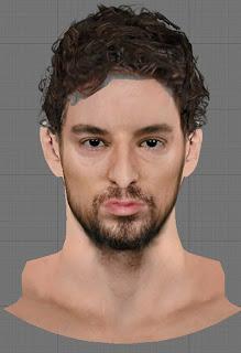 NBA 2K13 Pau Gasol Cyberface Mod