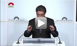 Roda de premsa de valoració compareixença Artur Mas - 100 dies de Govern