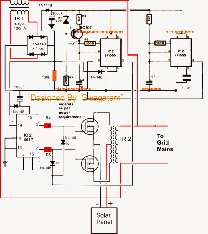 Circuit Diagram Of Solar Inverter For Home How Solar Inverter