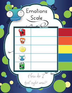 Emotions Chart - Self Regulation Tool