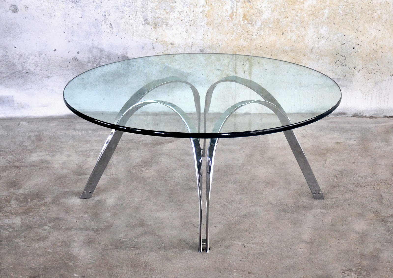 Select Modern Roger Sprunger Chrome Glass Coffee Or Cocktail Table