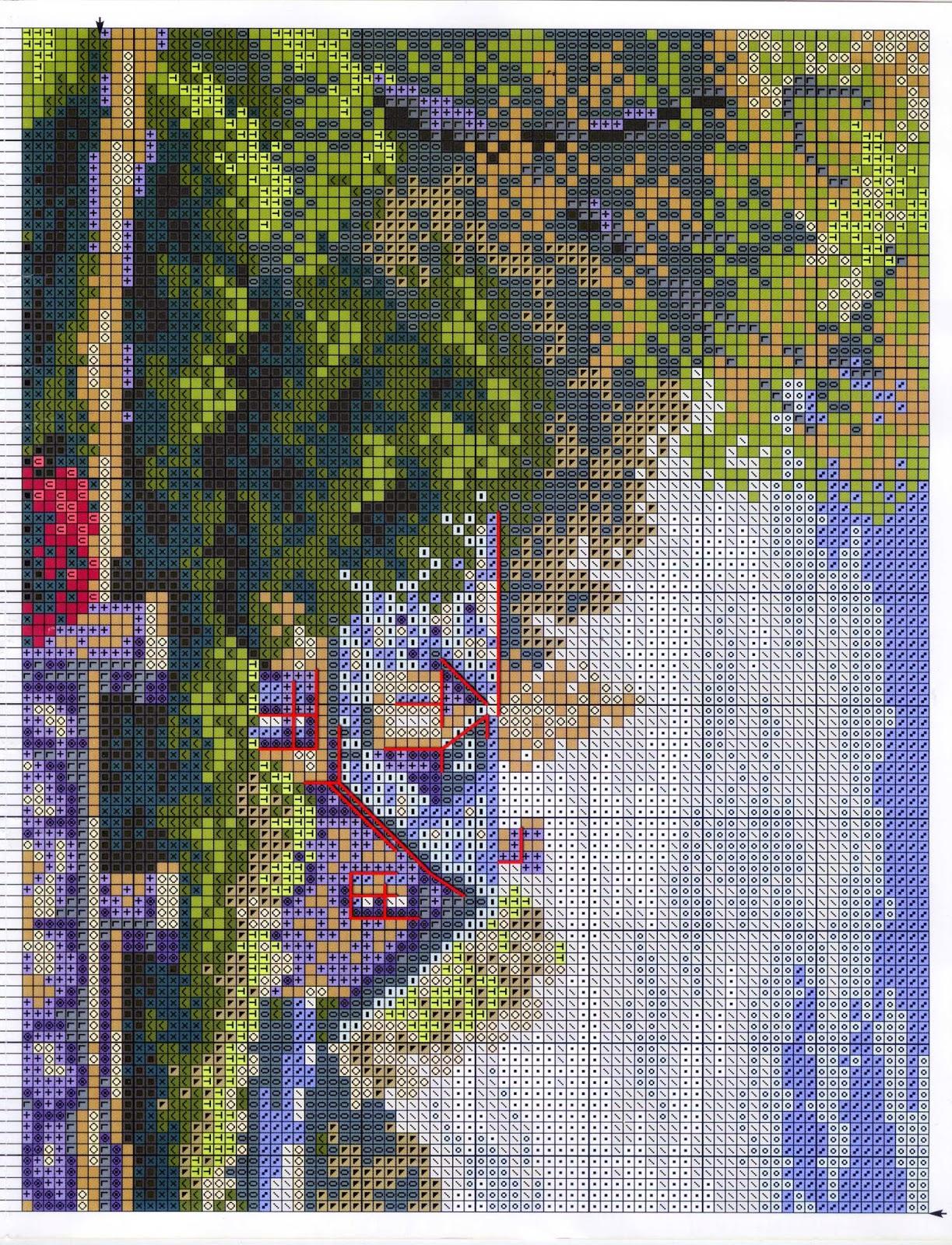 Схема вышивки риолис пейзажи 97
