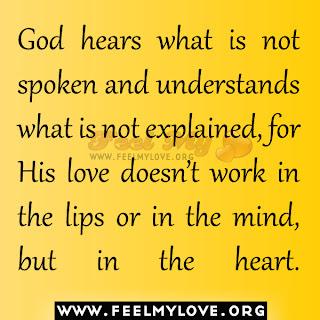 God hears what is not spoken