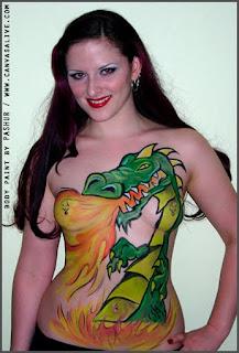 Cartoon Anecdote Body Painting