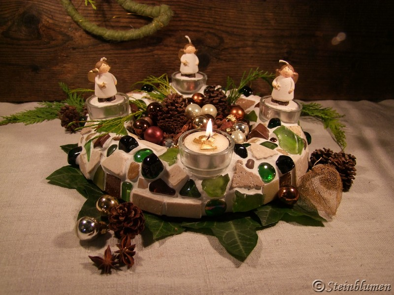 Mosaik Adventskranz