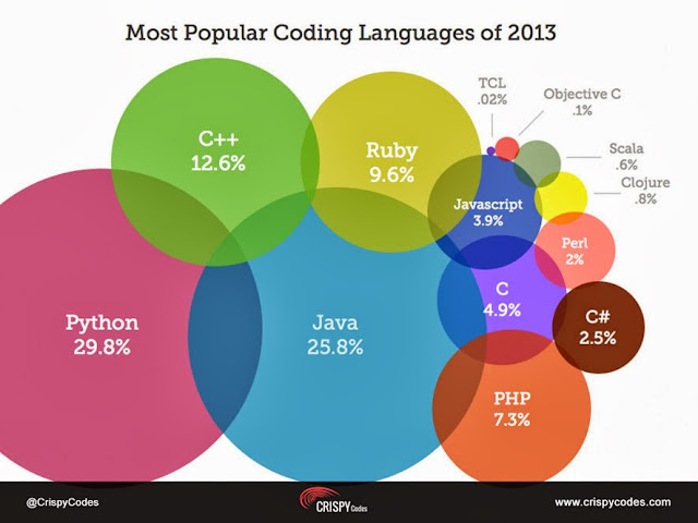 Most Popular Coding Languages of 2013