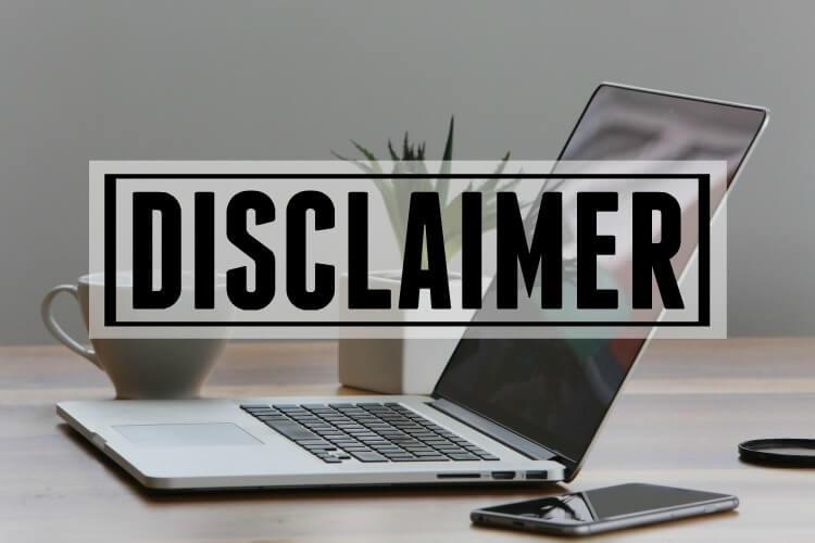 Disclaimer Page Header