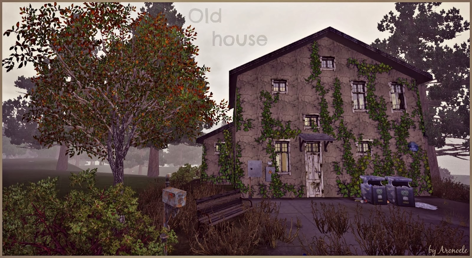 My sims 3 blog old house squat living by aronoele for Classic house sims 4