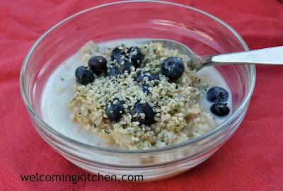 gluten-free vegan hemp heart oatmeal
