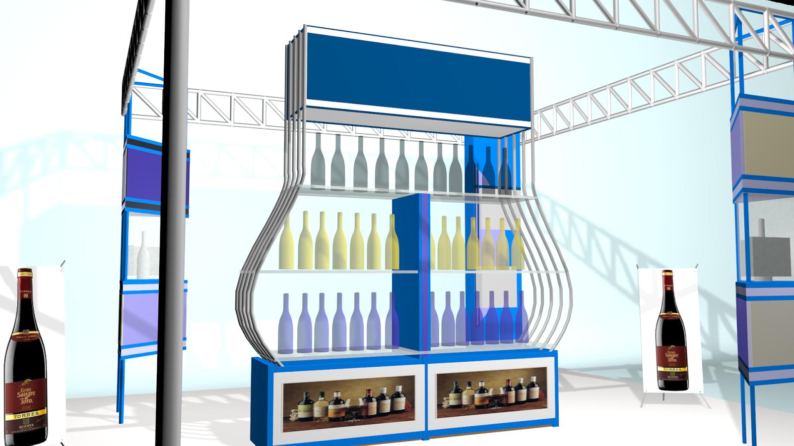 Stand de vinos 3d
