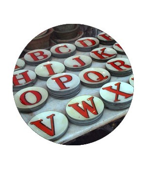 red letter plates by john derian