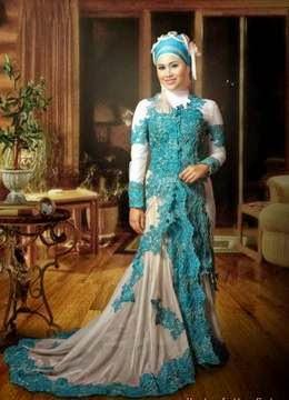 Contoh model kebaya muslim modern untuk pernikahan