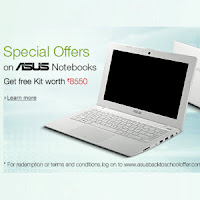 ASUS Laptops: Back to College Offer & get Free Back to School Kit worth Rs.4690 from Amazon