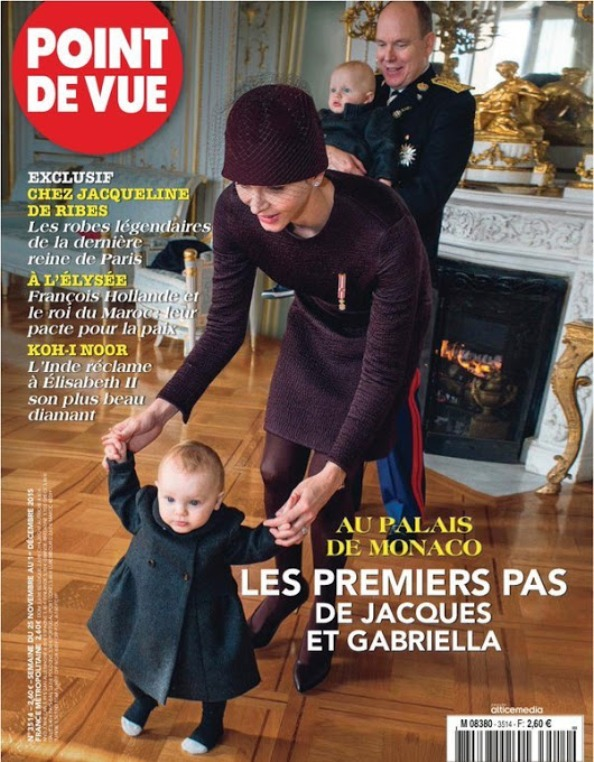 Monaco's Royal Family On The Cover Of Point De Vue