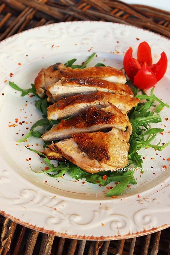 Tagliata di pollo cotto su pietra lavica i sapori del - Cucinare con la pietra lavica ...