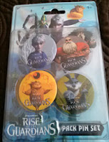 Rise of the Guardians 4 Pack Pin Set movie memorabilia