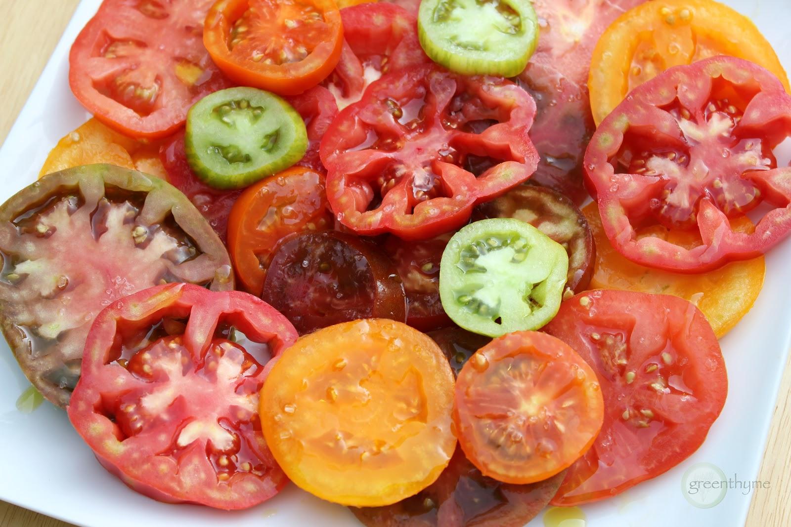 greenthyme: August Heirloom Tomato Salad