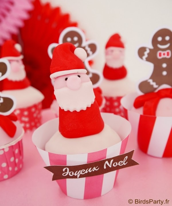 cupcake de noel père noel