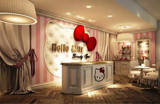 Desain kamar anak bernuansa hello kitty