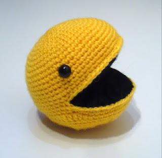 Amigurumi Pacman : Debbie made...: ...Pac-Man