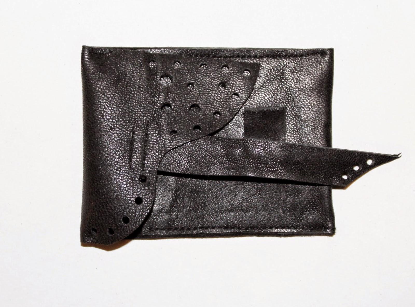 portfel na pieniądze na prezent, DIY, zrób to sam, portfel skórzany recznie robiony, krok po kroku tutorial