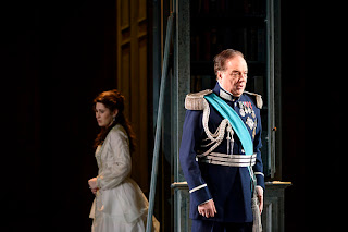 Nicole Car and Feruccio Furlanetto in Kasper Holten's production Eugene Onegin at Royal Opera House © Photograph by Bill Cooper, ROH 2015