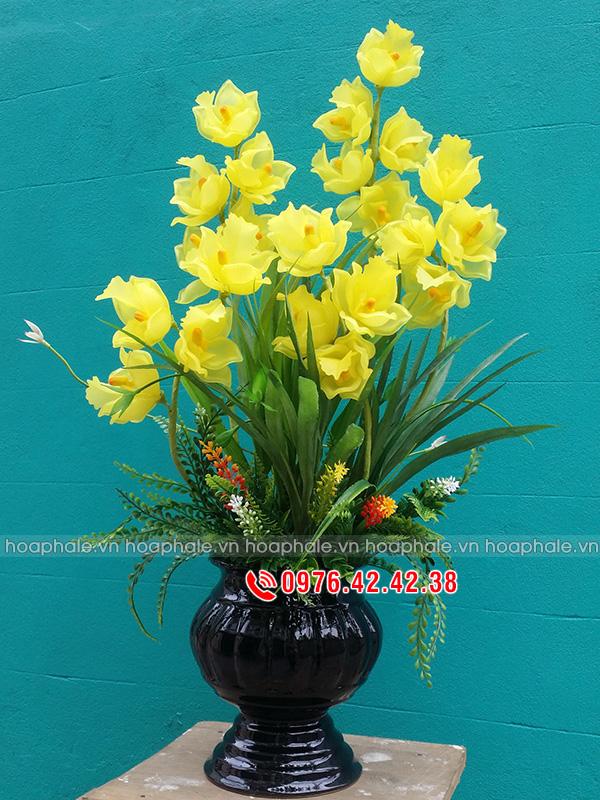 Hoa địa lan hoa pha lê