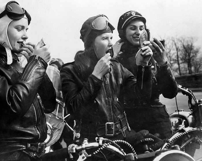 Motorcycle Girls Of Laconia Nh 1947