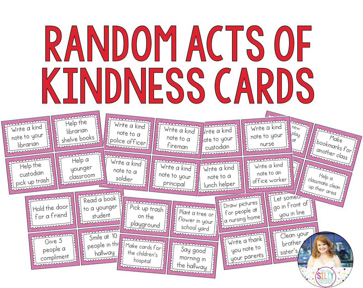 random acts of kindness I'm always trying to think up new random acts of kindness ideas because they are  such an easy way to make a positive difference it's fun to find new ways to.