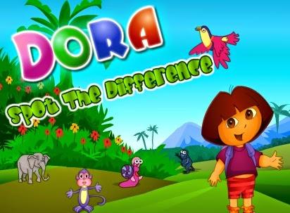 http://www.vivajuegos.com/juegos-de-memoria/dora-y-las-diferencias.html