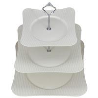 porcelana branca, prato de doce 3 andares, prato de cupcake, prato de bolo, presente dia das mães