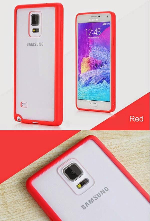 เคส Note 4 พร้อมส่ง 127002 สีแดง