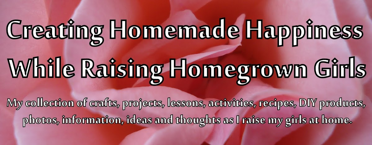 Creating Homemade Happiness While Raising Homegrown Girls