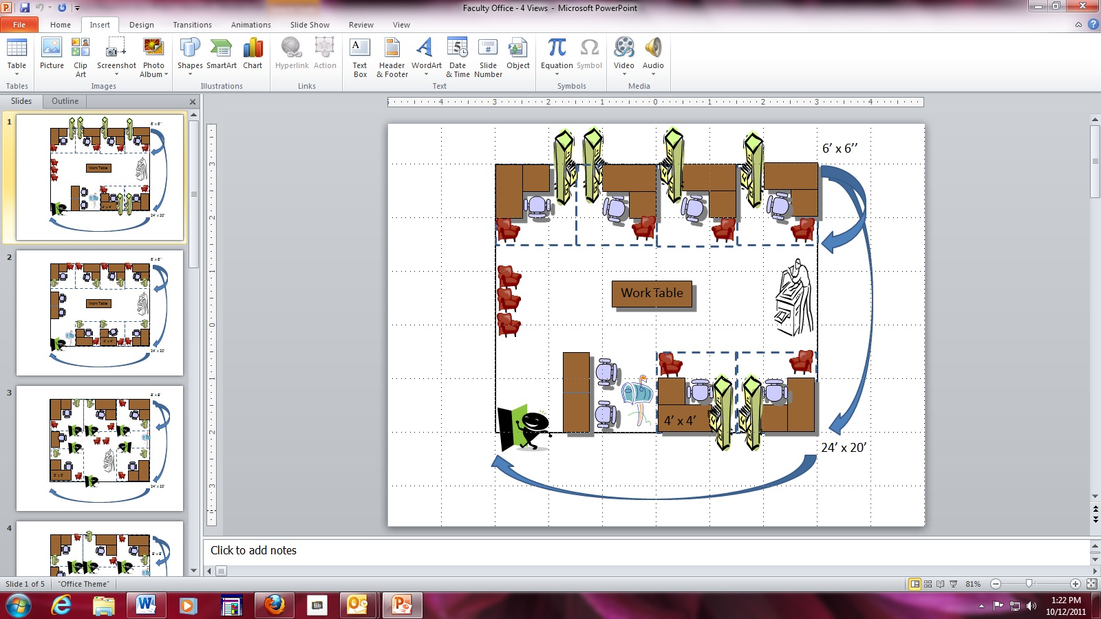 use microsoft powerpoint to create quick and fun room design layouts