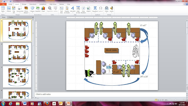 This is an example of an office space created using Microsoft PowerPoint.