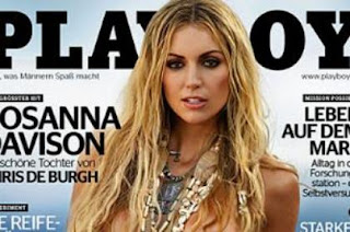 Rosanna Davison on the cover of German Playboy
