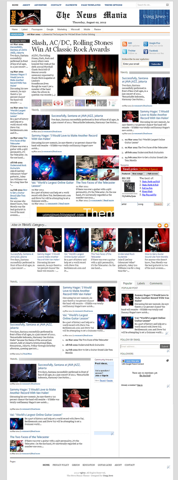 Free News Blogger Templates. 30 news blog themes templates free ...