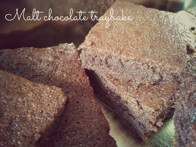 Malt chocolate traybake // 76sunflowers