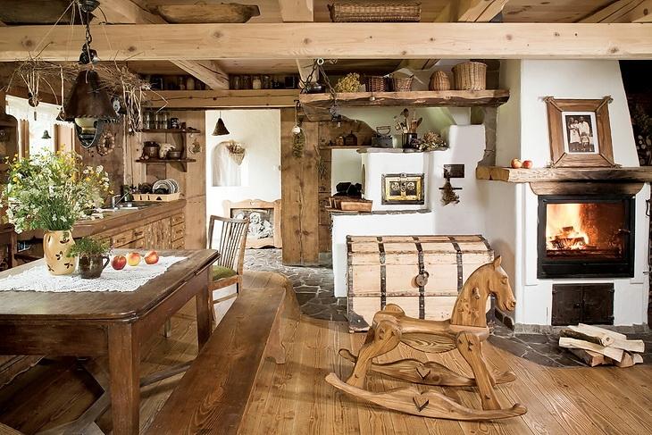 Estilo rustico interiores de cabana rustica for Decoracion rustica de interiores