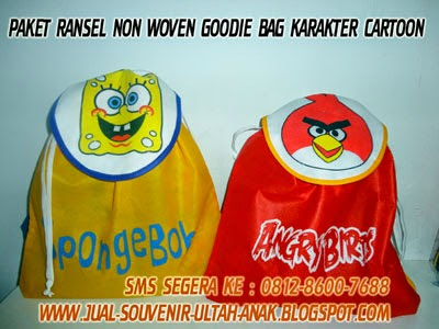 Souvenir+Ulang+Tahun+Anak+Non+Wooven+Ransel+Goodie+Bag Apa itu Tas Spunbond atau Non Woven?