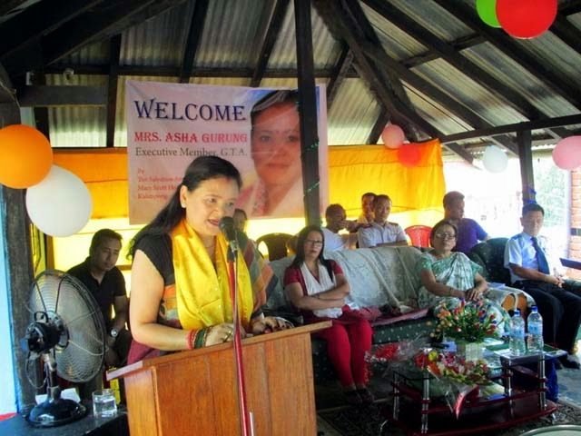 Asha Gurung visits Mary Scot Home for the Blind school at Kalimpong