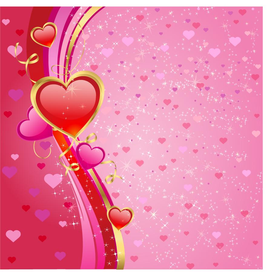 ハートを敷き詰めたバレンタインデーの背景 Valentines heart background イラスト素材