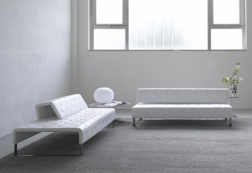 Houses design minimalist sofa by leather matteograssi for Minimalist sofa