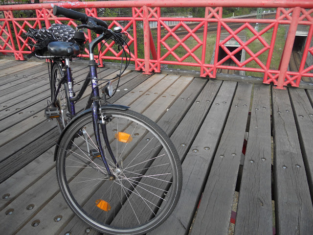 bicycle on Berlin bridge