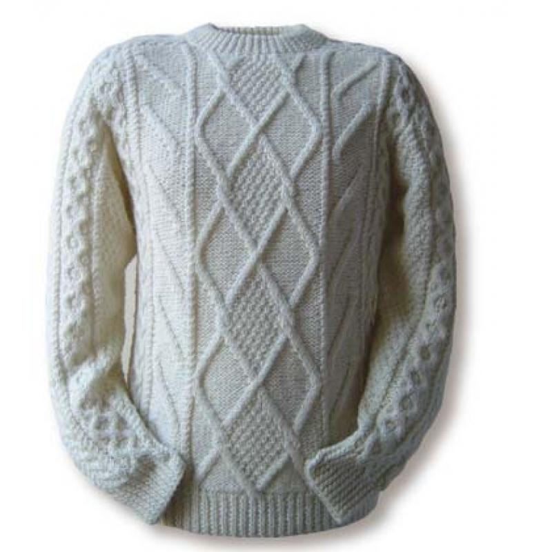Вязание мужского свитера с аранами спицами 691