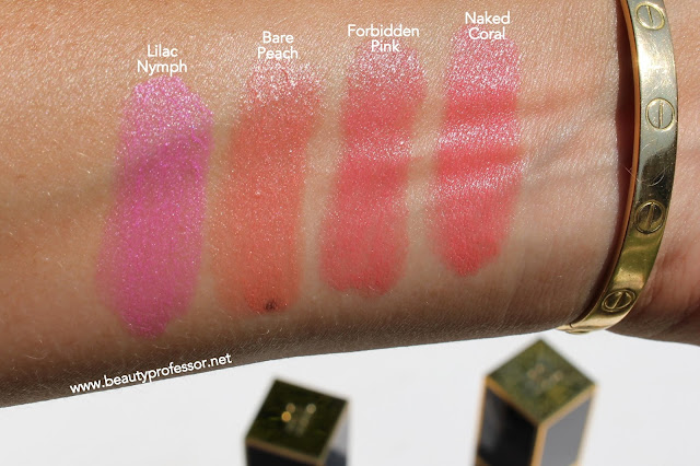 tom ford bare peach naked coral swatches