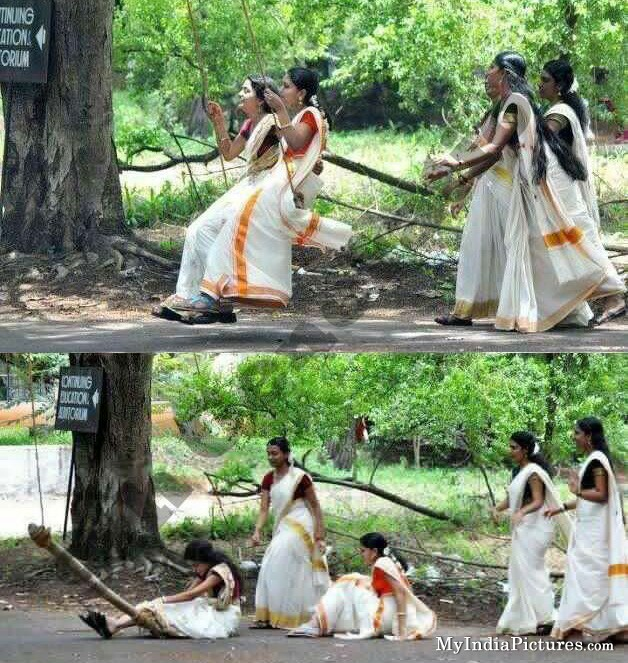 Indian Girls Swing Fall Accident Funny