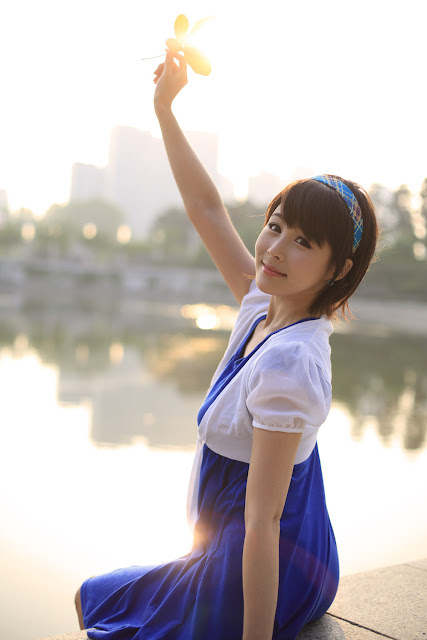8 kim Ji Min in Blue-very cute asian girl-girlcute4u.blogspot.com