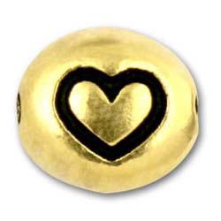 Heart Designed Silver Symbol Beads