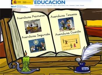 http://www.juntadeandalucia.es/averroes/carambolo/WEB%20JCLIC2/Agrega/Lengua/Quijote/aprende_diviertete_quijote/escritorio.htm